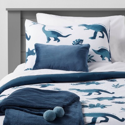 Dinosaur Comforter Set Watercolor Blue - Pillowfort™