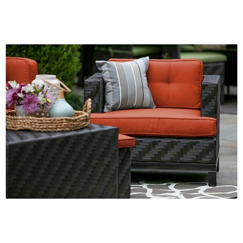 Rachel Single Arm Chair With Sunbrella Fabric Canvas - Brick - AE Outdoor - image 1 of 2