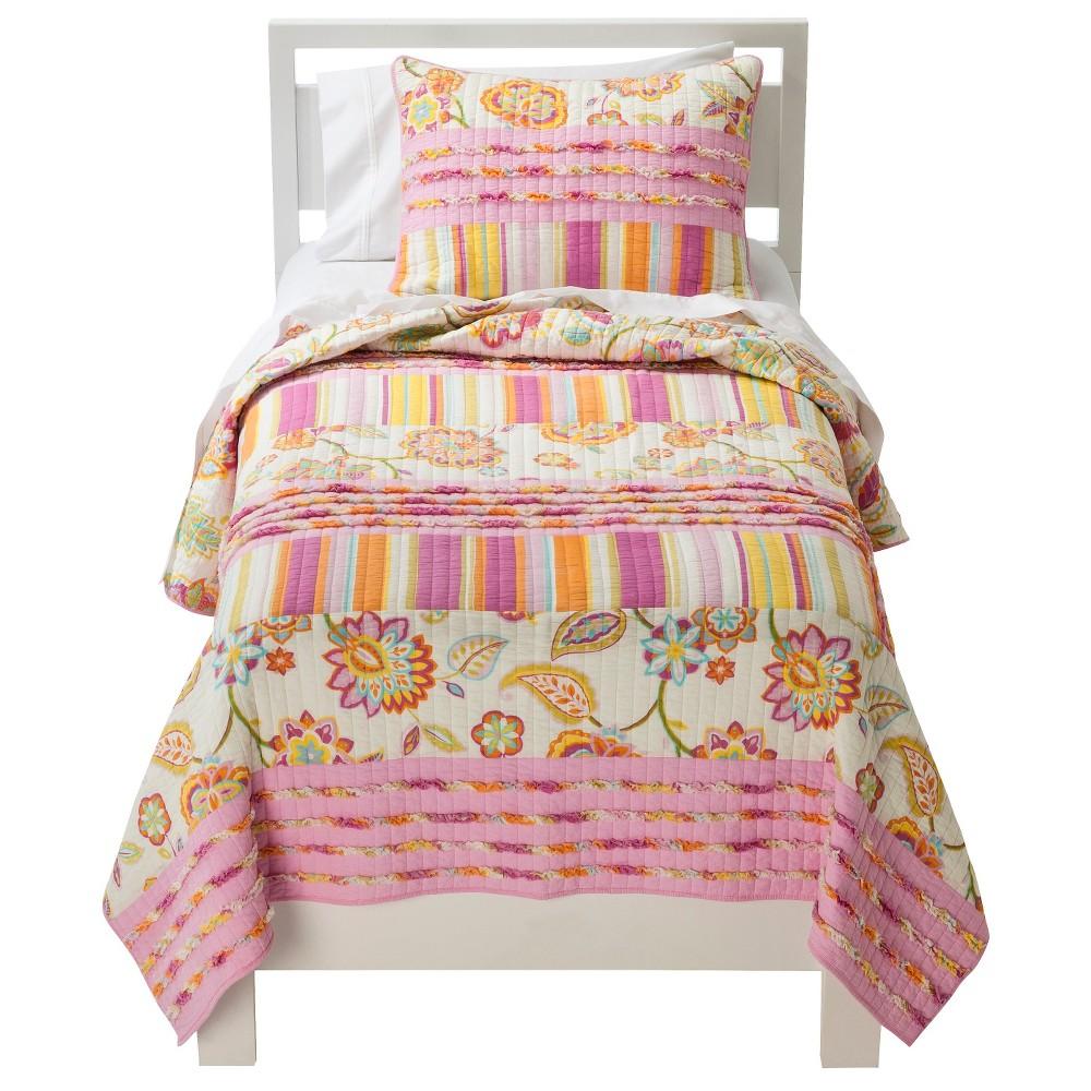 Image of Sheringham Road Celine Quilt Set - Pink (Full/Queen)