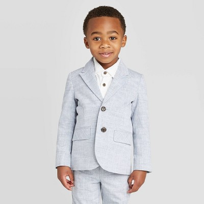 Toddler Boys' Classic Chambray Blazer - Cat & Jack™ Gray