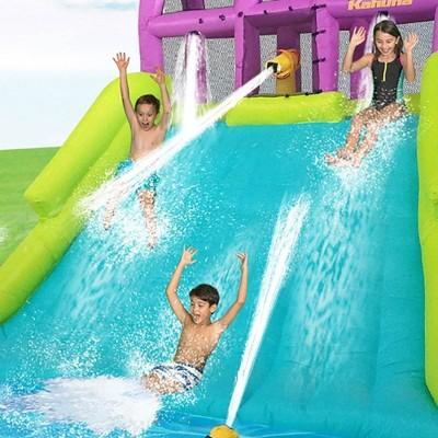 Kahuna Mega Blast Inflatable Backyard Kiddie Pool and Slide Water Park  (2 Pack)