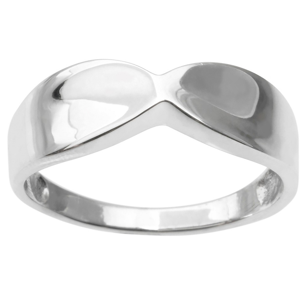 Women's Journee Collection Elegant Ring in Sterling Silver - Silver, 8
