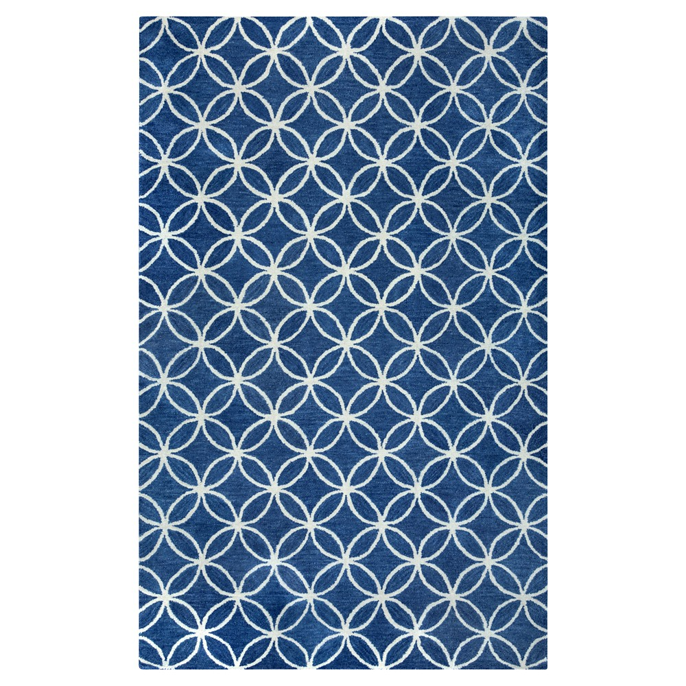 Image of 5'X8' Geometric Area Rug White - Rizzy Home