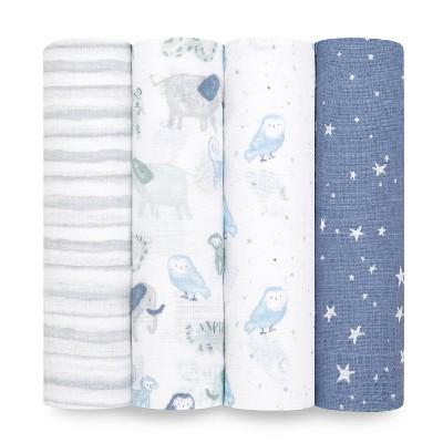 aden + anais essentials Muslin Swaddle Blankets - 4pk