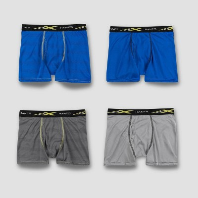 Hanes Boys' 4pk Xtemp Boxer Briefs - Colors May Vary