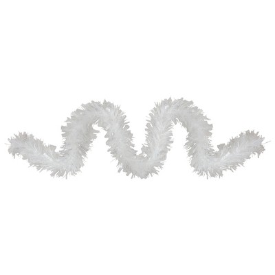 Northlight 12ft Clear and White Snowblush Artificial Tinsel Christmas Garland - Unlit