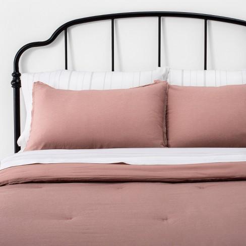 Solid Linen Blend Comforter & Sham Set Golden Copper - Hearth & Hand™ with Magnolia - image 1 of 3