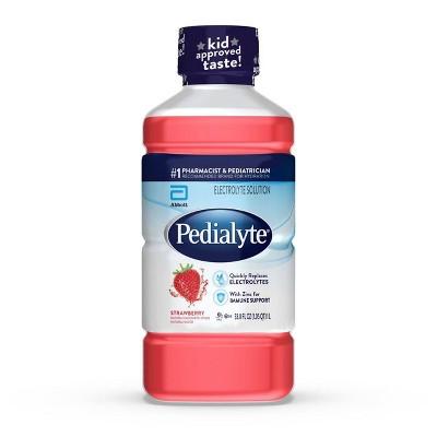 Pedialyte Electrolyte Solution -Strawberry - 33.8 fl oz