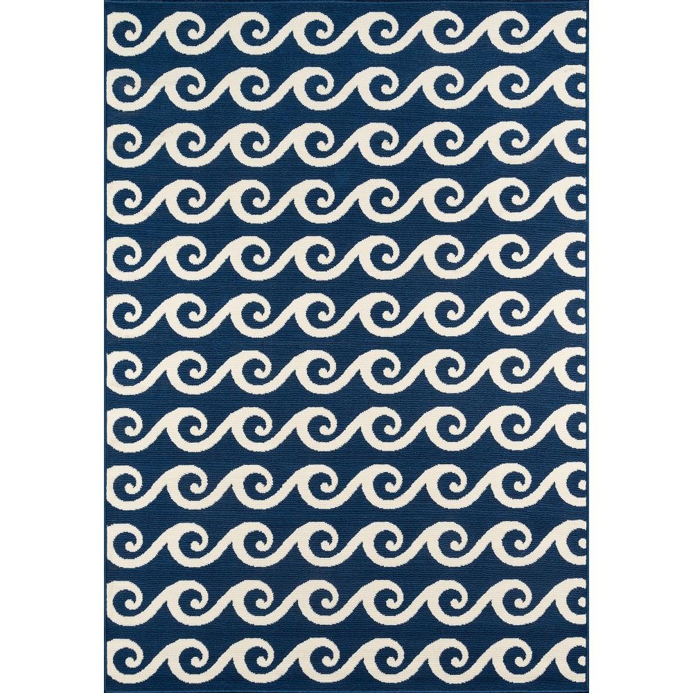 Ocean Waves Rug - Navy (Blue) - (7'10
