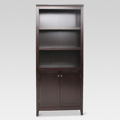 Carson 5 Shelf Bookcase with Doors - Espresso - Threshold™