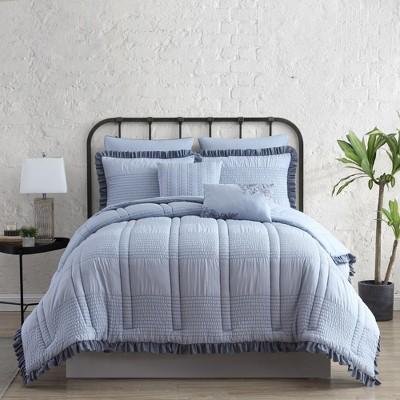 Modern Threads 7-Piece Seersucker Comforter Set.