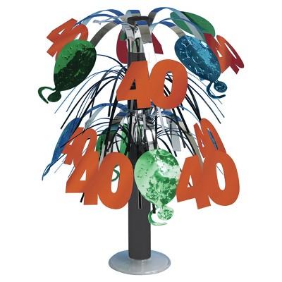 40th Birthday Foil Centerpiece