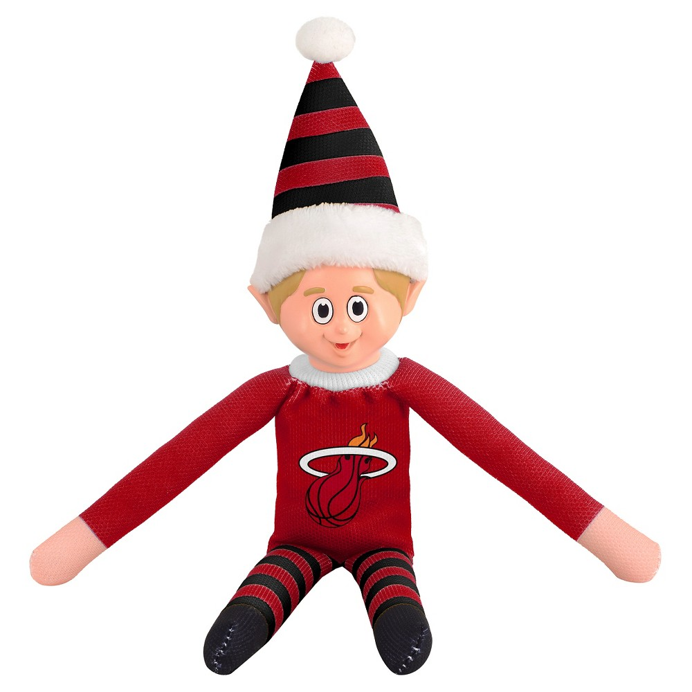 Miami Heat Forever Collectibles Plush Forever Collectibles - NBA Team Elf, Miami Heat - This Forever Collectibles Team Elf with provide hours of joy and holiday cheer for all. This officially licensed elf is sporting your favorite team's logo on his sweatshirt and a Santa hat for the season. Start a new tradition this year with your 2015 team elf! Age - 3 and up. Team elf is approximately 14 inches tall.
