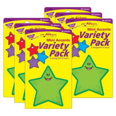 6pk 36 per Pack Stars Mini Accents Variety Pack - TREND