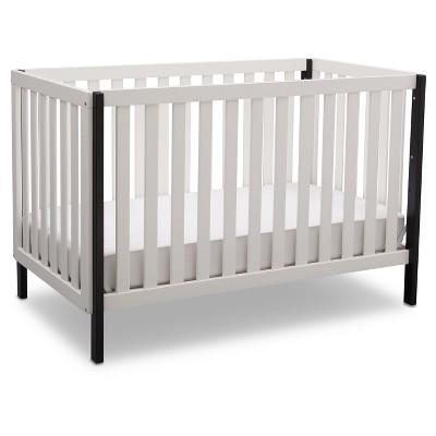 Delta Children Milo 3-in-1 Convertible Crib - Bianca White/Black