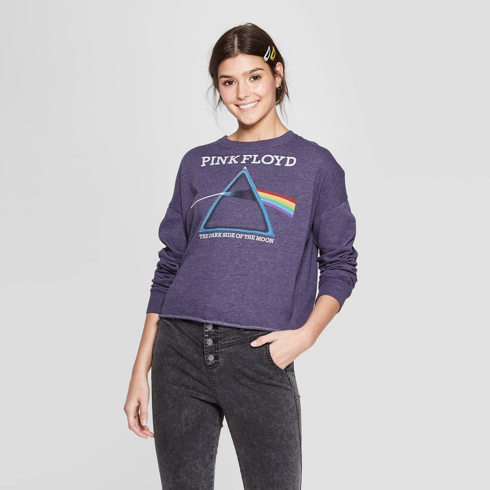 Women's Pink Floyd Dark Side Crewneck Sweatshirt (Juniors') - Blue M