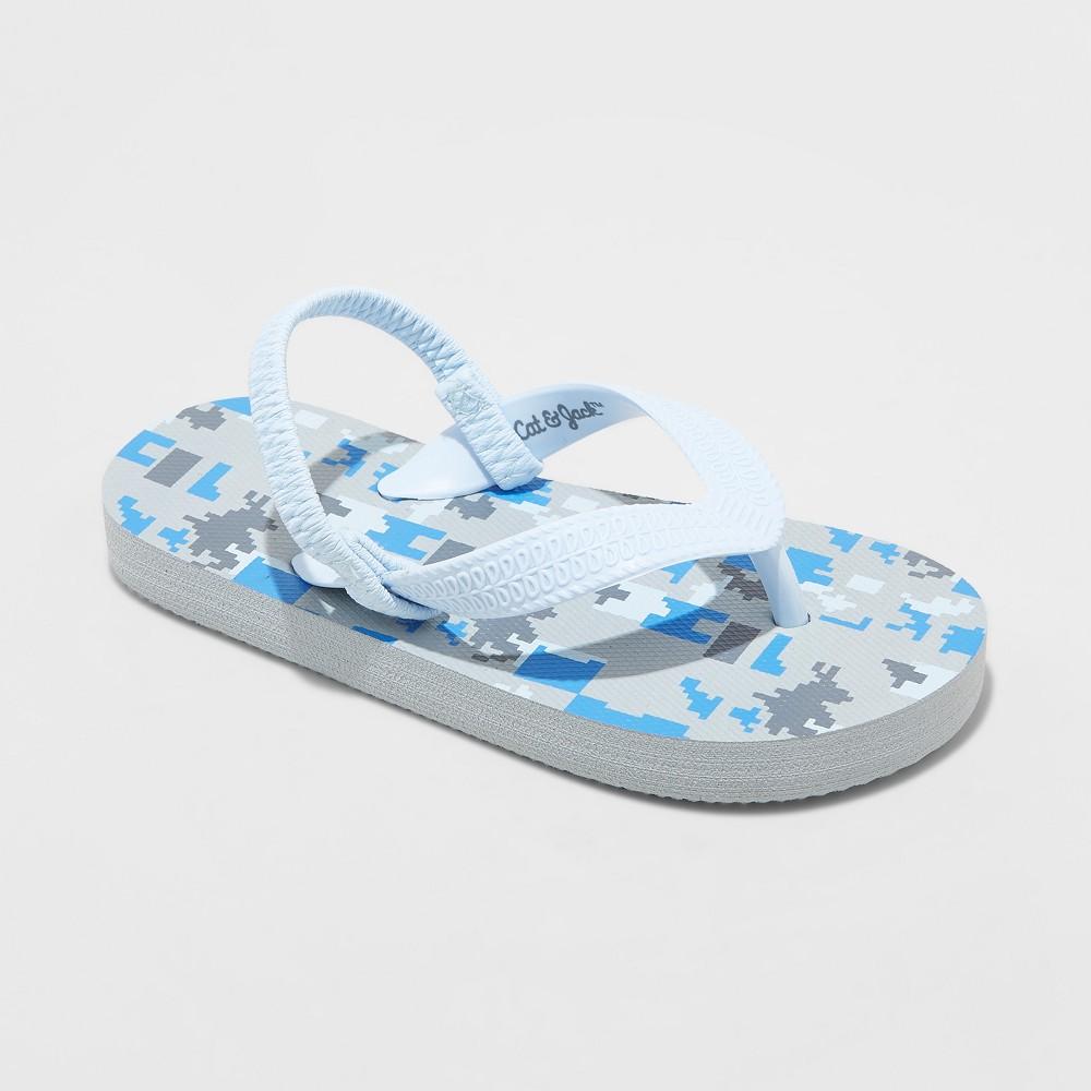 Toddler Boys' Lance Flip flop sandals - Cat & Jack Light Blue M