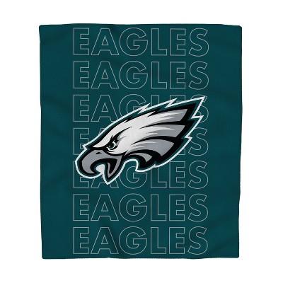NFL Philadelphia Eagles Echo Team Wordmark Plush Blanket