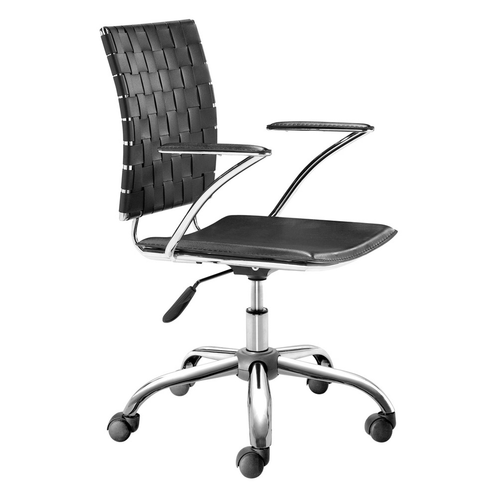 Modern Adjustable Chrome Office Chair - Black - ZM Home Buy