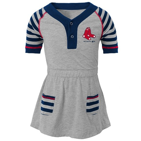 741c3e1befc Boston Red Sox Girls  Striped Gray Infant Toddler Dress - 4T   Target