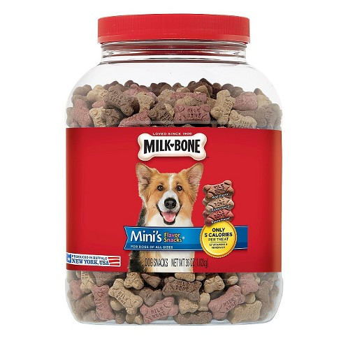 Milk-Bone Mini's Biscuits Flavor Snacks Canister 36oz - image 1 of 1