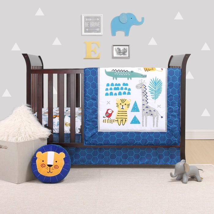 The Peanutshell Belle Safari Party 4pc Crib Bedding Set - image 1 of 5