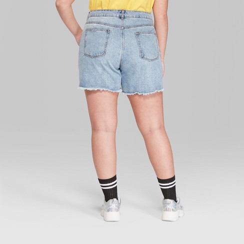 5e7a5828a9 Women's Plus Size High-Rise Destructed Relaxed Longer Length Jean Shorts - Wild  Fable™ Medium Blue Wash. Shop all Wild Fable