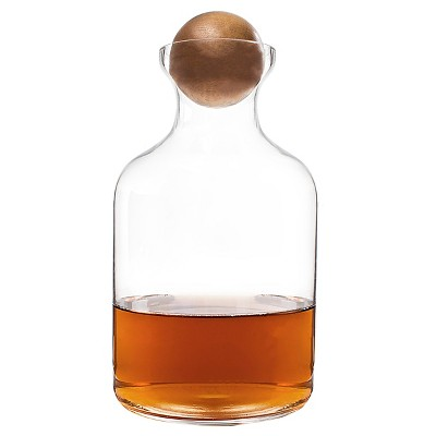Cathy's Concepts 56 oz. Glass Decanter with Wood Stopper