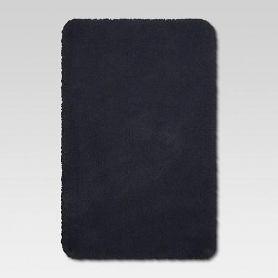 Solid Nylon Bath Rug Xavier Navy - Threshold™