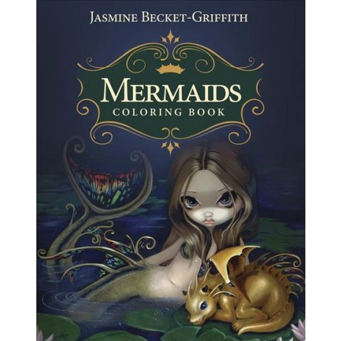 Mermaids Coloring Book An Aquatic Fantasy Art Target