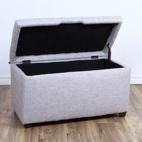 Bedroom Storage Ottoman Bench - The Crew Furniture