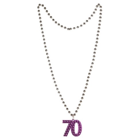 70th Birthday Beaded Necklace - image 1 of 1