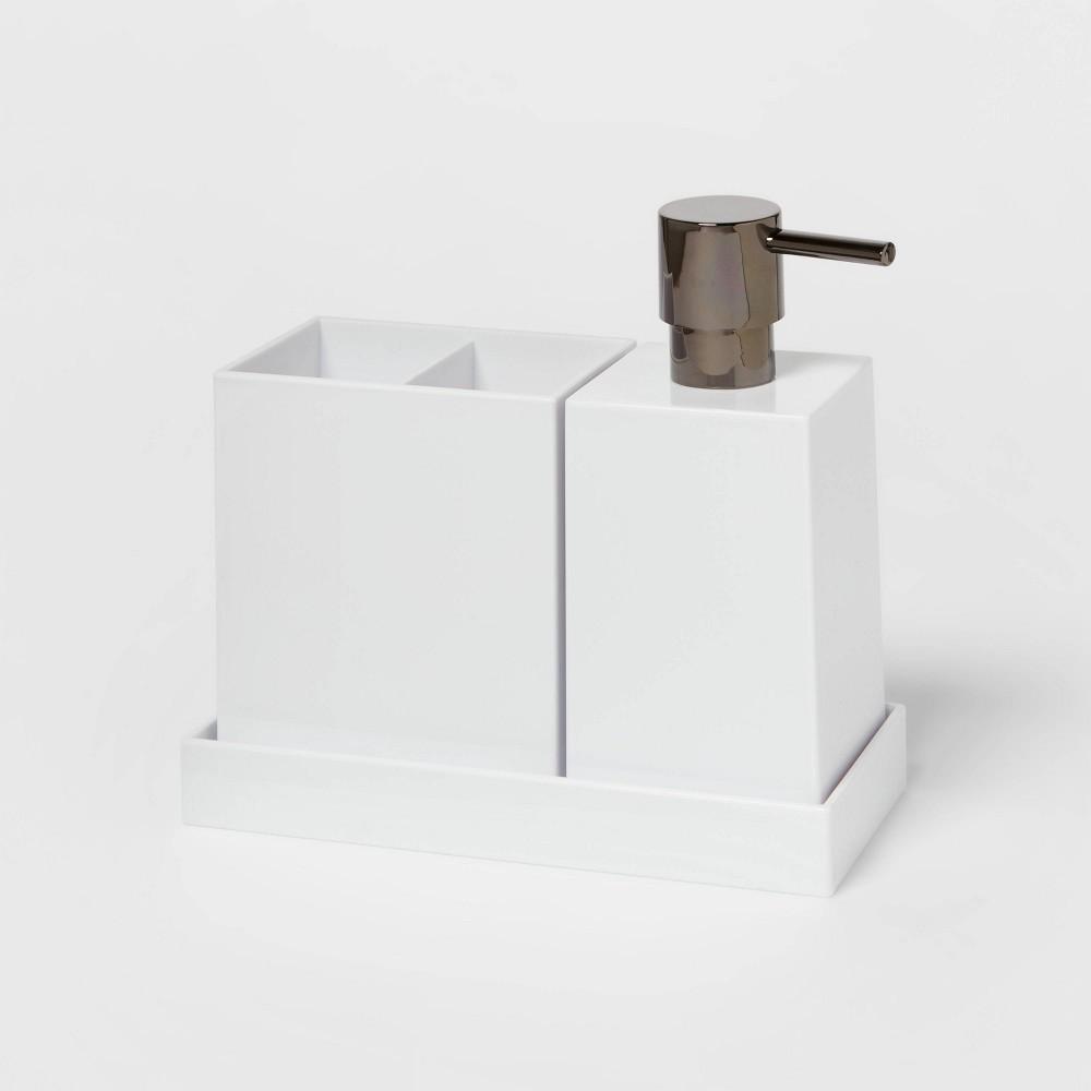 3pc Plastic Bath Coordinate Set White Project 62 8482