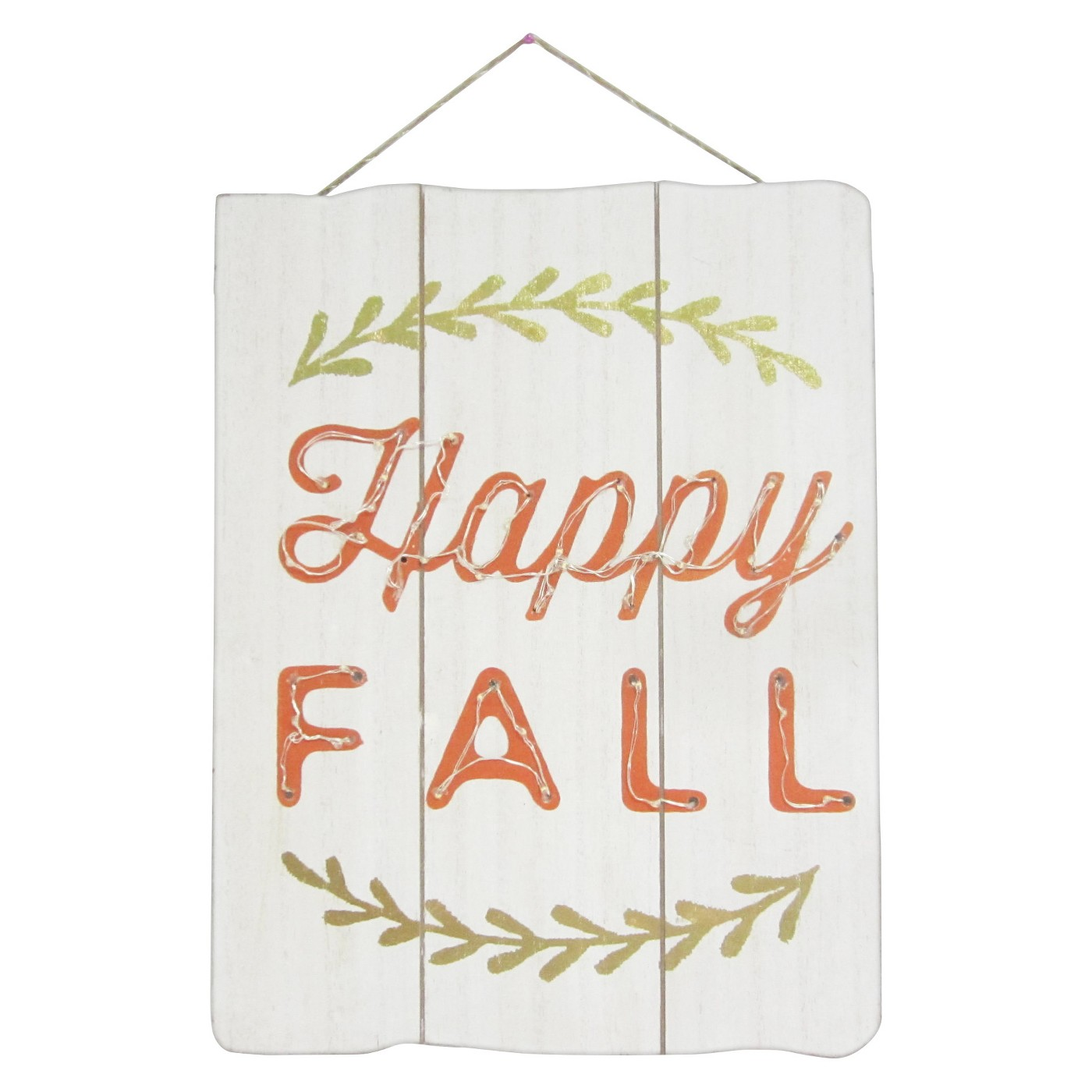 Happy Fall Lit Wood Hanging Wall Sign - image 1 of 2