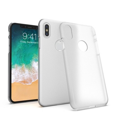 INSTEN Clear Opaque Protective Phone Case Compatible with Apple iPhone X