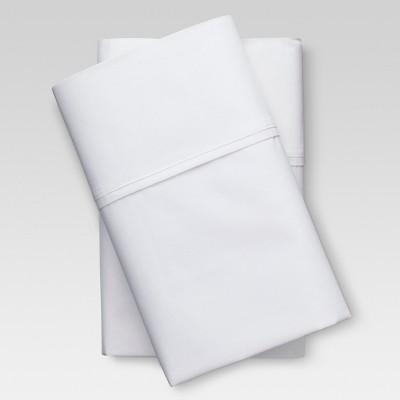 Organic Cotton Pillowcase Standard White 300 Thread Count - Threshold™