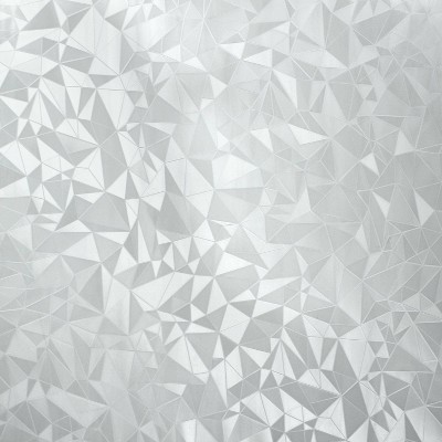 RoomMates Etched Glass Window Film Silver