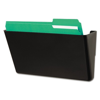 UNIVERSAL Recycled Wall File Add-On Pocket Plastic Black 08122