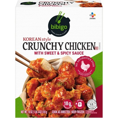 Bibigo Frozen Korean Style Crunchy Chicken with Sweet & Spicy Sauce - 18oz