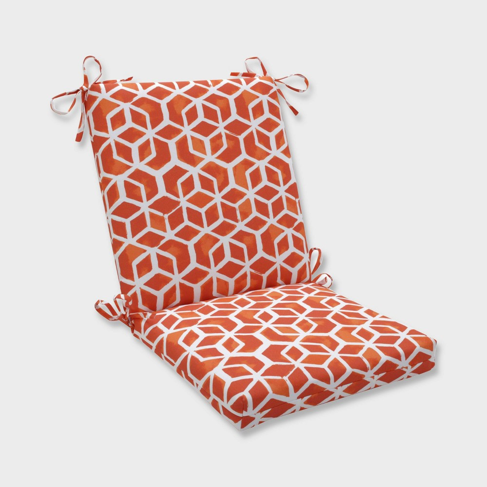 Celtic Marmalade Squared Corners Outdoor Chair Cushion Orange - Pillow Perfect