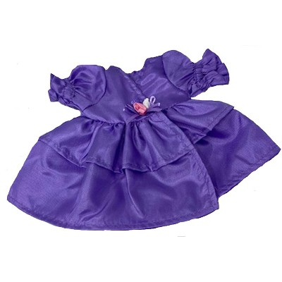 Doll Clothes Superstore Purple Party Dress Fits 18 Inch Girl Dolls Like Our Generation, American Girl, My Life Dolls