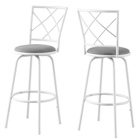 Enjoyable 28 Metal Armless Barstool White Set Of 2 Everyroom Theyellowbook Wood Chair Design Ideas Theyellowbookinfo