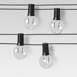 Black Cord Globe Lights Clear - Room Essentials™