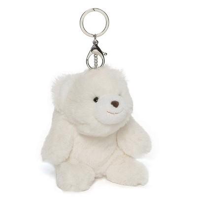"Enesco Snuffles the Teddy Bear White 5"" Plush Keychain"
