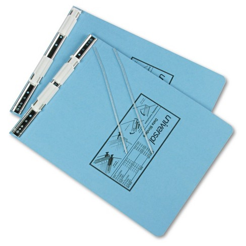 "Universal® 6"" Data Binder Hanging Pressboard 9.5"" x 11"" - Light Blue - image 1 of 1"