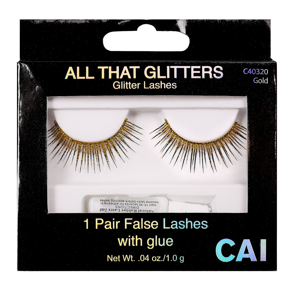 Cai All That Glitters Eyelashes Gold - 1ct