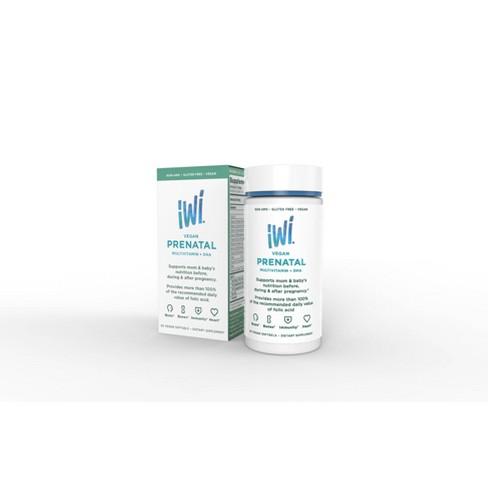 iWi Vegan Prenatal Multivitamin + DHA Softgels - 60ct - image 1 of 4