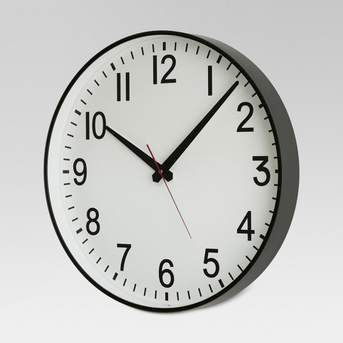 20 Wall Clock Black White