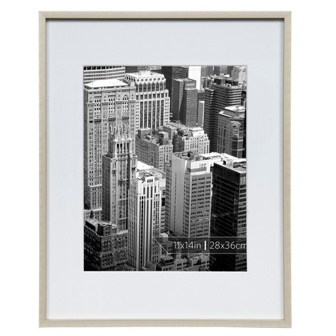 "Burnes of Boston 8"" x 10"" Aluminum Gallery in Polished Finish Matted Single Image Frame Gold - image 1 of 6"