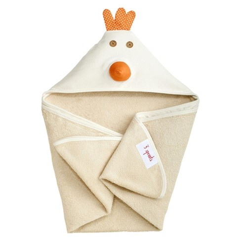 3 Sprouts Newborn/Infant Hooded Towel - Chicken - image 1 of 1